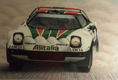 Lancia Stratos rally car