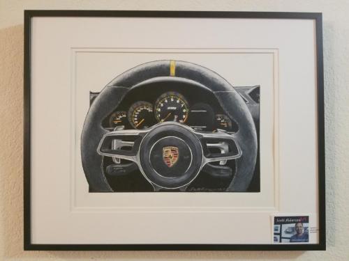 Porsche GT3 cockpit