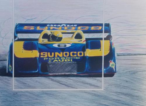 Mark Donahue in a Porsche in a 917/30