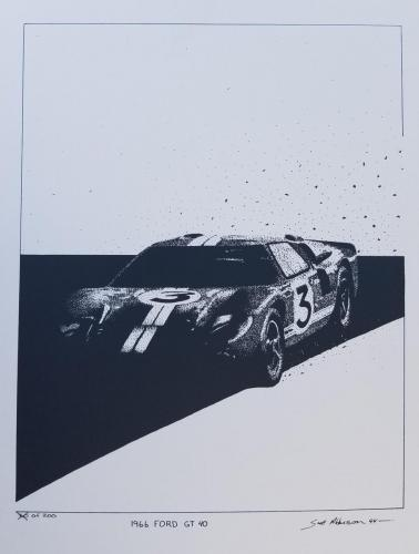 Dan Gurney in a Ford GT40 at the 24 Hours of Le Mans